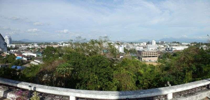Panoramafoto von dort oben