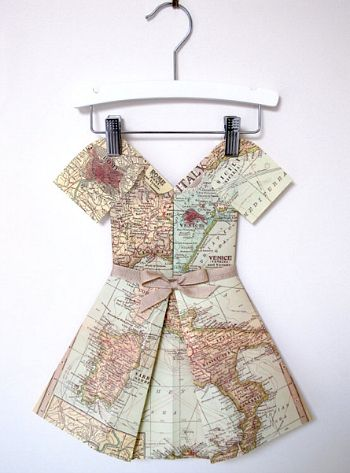 Italy map folded paper dress on Cool Mom Picks