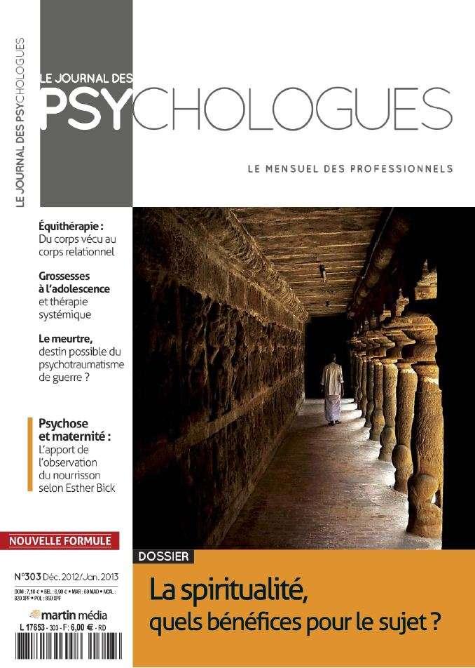 Le Journal des Psychlogues N°303 Décembre 2012 Janvier 2013