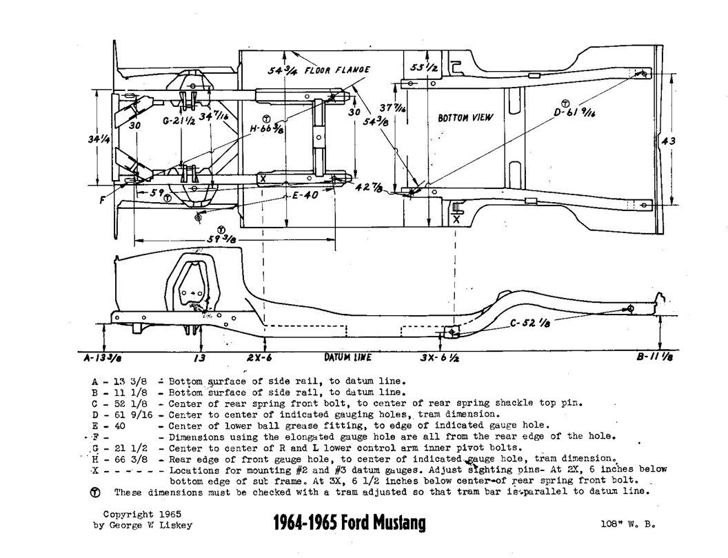independent rear suspension forum  u00bb early mustang chassis